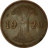Monnaie, Allemagne, République De Weimar, Reichspfennig, 1929, Berlin, TTB - 1 Rentenpfennig & 1 Reichspfennig