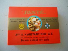 GREECE USED EMPTY CIGARETTES BOXES  SANTE KONSTANTINOU - Empty Tobacco Boxes