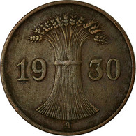 Monnaie, Allemagne, République De Weimar, Reichspfennig, 1930, Berlin, TTB - 1 Rentenpfennig & 1 Reichspfennig