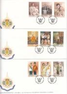 Thailand, 1999, King's 6th Cycle Anniversary, 3x FDC - Thailand