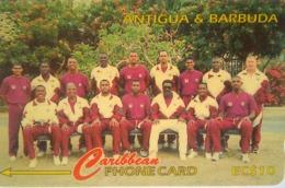 222CATA 1996 West Indies Cricket Team EC$10 Small Size C/n - Antigua En Barbuda
