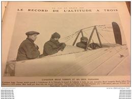 1912 L'AVIATEUR BELGE VERREPT ET SES DEUX PASSAGERS - RECORD DE L'ALTITUDE A TROIS - Livres, BD, Revues