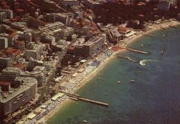 CPSM Grand Format JUAN LES PINS Vue Aérienne Les Plages ,le Casino ,le Bd Guillaumont Colorisée RV - Antibes