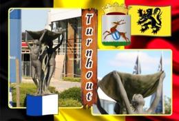 Postcards, REPRODUCTION, Municipalities Of Belgium, Turnhout, Duplex XIII (597-649) - 53 Pcs. - Maps