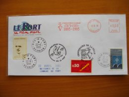 Réunion : Lettre Avec En-tête «Le Port Sa Mem Mem» «Centenaire De La Ville Du Port» (1995) - Réunion (1852-1975)