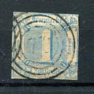 Thurn Und Taxis: 1 Sgr. MiNr. 15 1859-1861 Gestempelt / Used / Oblitéré - Thurn En Taxis