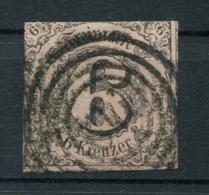 Thurn Und Taxis: 6 Kr. MiNr. 9 1852-1858 Gestempelt / Used / Oblitéré - Thurn En Taxis