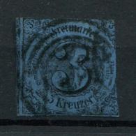 Thurn Und Taxis: 3 Kr. MiNr. 8 1852-1858 Gestempelt / Used / Oblitéré - Thurn En Taxis