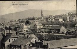 Cp Betzdorf Im Westerwald Rheinland Pfalz, Blick Auf Den Ort, Bahnhof, Gleisseite - Andere