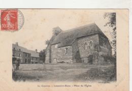 La Corrèze - LAMAZIERE-BASSE - Place De L'Eglise, Voyagé 1909, Petite Egrénure Au Verso - Francia