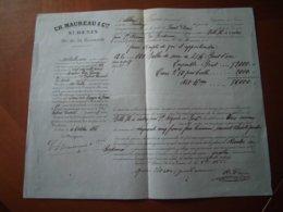 Réunion: Connaissement De 1866 Portant Sur Le Transport De 800 Balles De Sucre De Saint-Denis Vers La France. - Documents Historiques