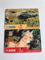 Argentina - 2 Nice Chipcards With Animals - Argentinië