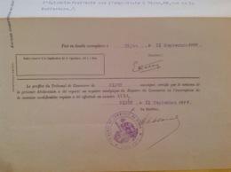 Cachet Tribunal De Commerce De Dijon 1926 - Cachets Généralité