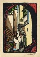 Illustrateur Signé Rue D'Alger RV - Alger