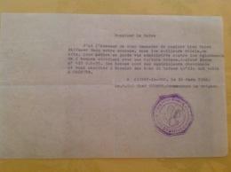 Cachet Gendarmerie AIGNAY LE DUC Commandant Guinet 1962 - Seals Of Generality