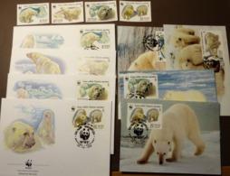 UdSSR Russia WWF Eisbär Polarbear  Maxi Card FDC MNH ** #cover 4992 - W.W.F.