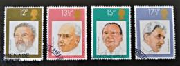 CHEFS D'ORCHESTRES BRITANNIQUES 1980 - OBLITERES - YT 951/54 - MI 846/49 - 1952-.... (Elizabeth II)