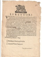 Brescia 4 Gennaio 1634 COD Bu.270 - Decreti & Leggi