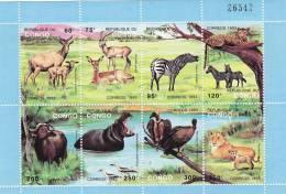 Congo Nº 971 Al 978 En Hoja - Democratic Republic Of Congo (1997 - ...)