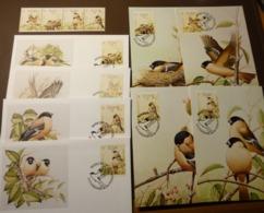 WWF 1990 PORTUGAL AZOREN  Mi. 405-408 Birds  Oiseaux Azorengimpel Maxi Card FDC MNH ** #cover 4997 - W.W.F.