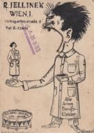 AK - Alte Werbekarte - R. Jelinek - Berufskleider - Volksgartenstrasse 5 - Die Trommelmarke - Werbepostkarten