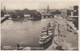 AK - Schweden - Stockholm - 1929 - Riksdagshuset Och Norrbro Fran Södra Blasieholmshammen - Schweden