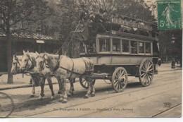 75 Les Transports à PARIS  Omnibus à Trois Chevaux - Trasporto Pubblico Stradale