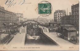75 PARIS XIe  Vue Sur Le Canal Saint-Martin - Arrondissement: 11