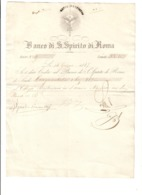 Banco Di Santo Spirito Di Roma 53 Scudi E 81 Baj 14 06 1865 Spl Bu.272 - Italia