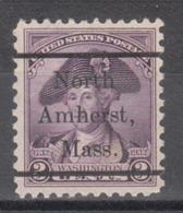 USA Precancel Vorausentwertung Preo, Locals Massachusetts, North Amherst L-1 TS - Vereinigte Staaten