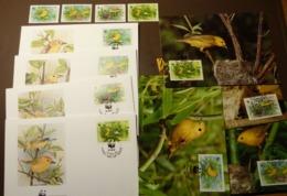 Barbados 1991 WWF Goldwaldsänger Yellow Warbler Mi 770-773  Maxi Card FDC MNH ** #cover 5002 - W.W.F.