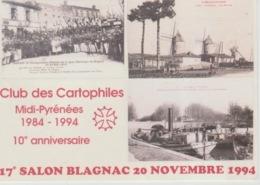 19 / 10 / 108. -  EXPO  - BLAGNAC - CANAL -DU-MIDI -LAURAGAIS  , Lors Du 17è Salon Du Club Midi-Pyrénées - C P M - Tentoonstellingen
