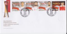 Poland FDC 2014 Polish Champions Volleyball    (NB**LAR3B16) - Voleibol