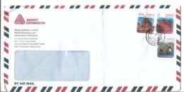 Hong Kong Airmail 2014 Kang Lau Shek  3.70 HK$, Basalt Island, Port Island $2, Landscapes Of Hong Kong Airmail Cover - Cartas