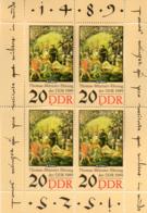 """(DDR-Bl) DDR Kleinbogen Mi. 4x 3271 """"500. Geburtstag Von Thomas Müntzer""""  ** Postfrisch - Ungebraucht"""