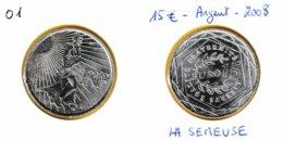 15 Euro Semeuse En Marche En Argent 900 - France 2008 - France