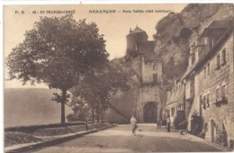 F.P.-40. EN FRANCHE-COMTE . BESANCON . PORTE TAILLEE ( Cote Interieur ) + FEMME A VELO . AFFR LE 12-4-1924 . 2 SCANES - Besancon
