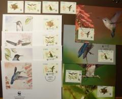 1992 Kuba Cuba WWF Bienenelfe Bee Hummingbird Mi: 3589-3592 Maxi Card FDC MNH ** #cover 5004 - W.W.F.