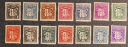 ANDORRE FRANCAIS - 1937 - YT 47 à 60 * - ARMOIRIES - Unused Stamps