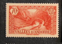 ANDORRE FRANCAIS - 1937 - YT 69 ** - PAYSAGES - Unused Stamps
