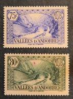 ANDORRE FRANCAIS - 1937 - YT 70 Et 71 * -PAYSAGES - Unused Stamps