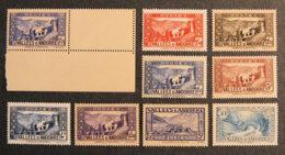 ANDORRE FRANCAIS - 1937 - YT 84 à 92  ** -PAYSAGES - Unused Stamps