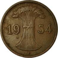 Monnaie, Allemagne, République De Weimar, Reichspfennig, 1934, Stuttgart, TTB - [ 3] 1918-1933 : Weimar Republic