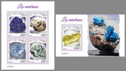 DJIBOUTI 2019 MNH Minerals Mineralien Mineraux M/S+S/S - OFFICIAL ISSUE - DH1939 - Minerali