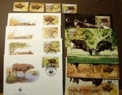 WWF Cambodge KAMBODSCHA Kampuchea Oxen Gaur Cattle Ochsen 1986 Mi: 823-26  Maxi Card FDC MNH ** #cover 5006 - W.W.F.