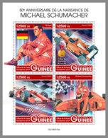GUINEA REP. 2019 MNH Michael Schumacher Formula 1 M/S - OFFICIAL ISSUE - DH1939 - Automobilismo