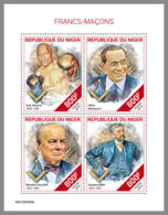 NIGER 2019 MNH Freemasons Freimaurer Francs-macons M/S - OFFICIAL ISSUE - DH1939 - Freemasonry