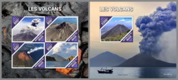 NIGER 2019 MNH Volcanoes Vilkane Volcans M/S+S/S - IMPERFORATED - DH1939 - Volcans