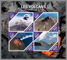 NIGER 2019 MNH Volcanoes Vilkane Volcans M/S - IMPERFORATED - DH1939 - Volcans