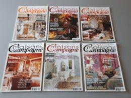 6 Magazines : Maisons De Campagne N° 43, 51, 58, 61, 62, 66 & - Haus & Dekor